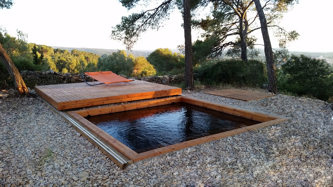 Terrasse amovible sur piscine