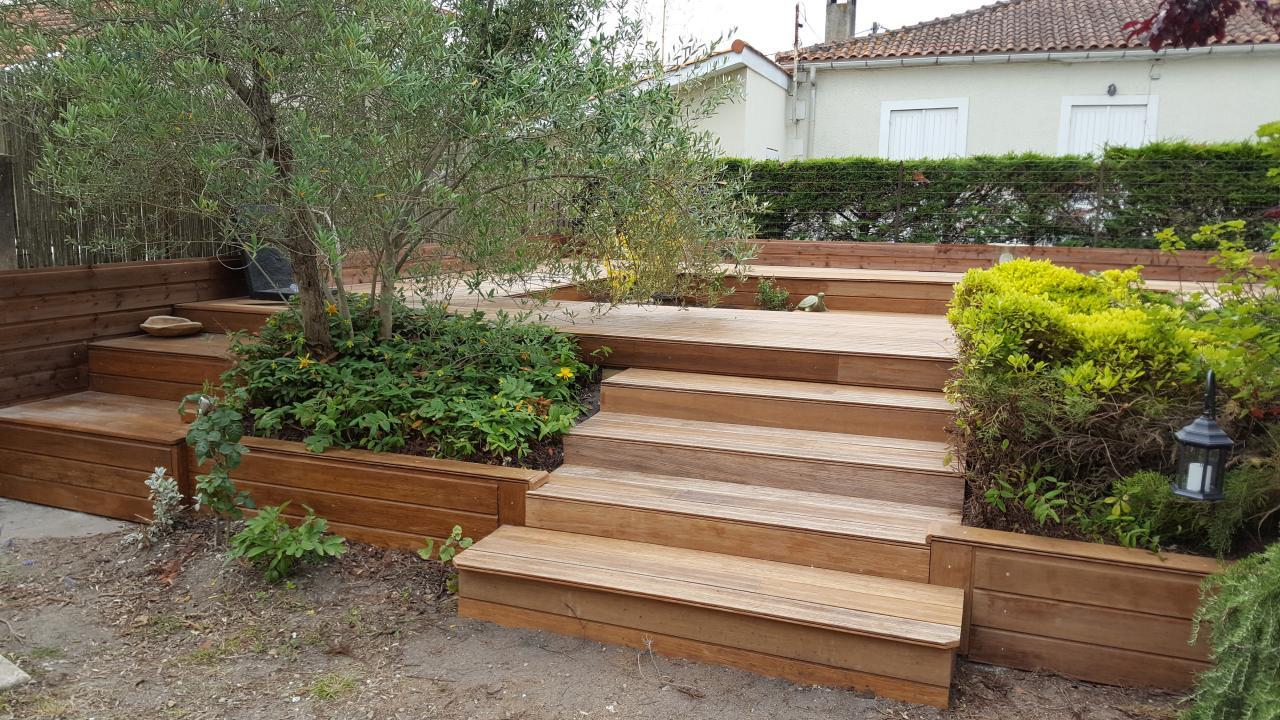 Terrasse bois niveau