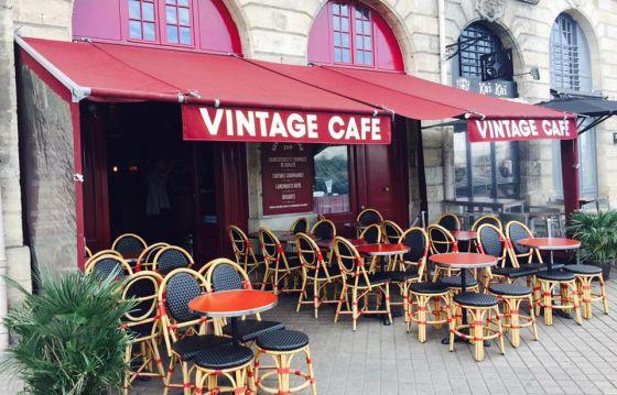 Terrasse café vintage