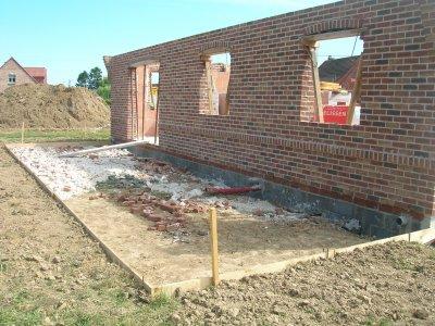 Terrasse beton fissuree