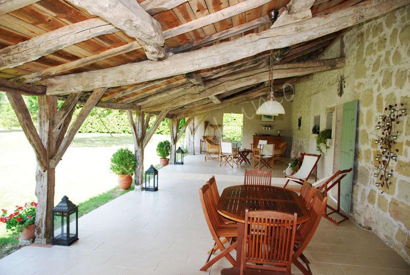 Terrasse Couverte Maison Ancienne Mailleraye Fr Jardin