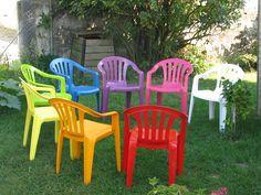 Renover salon de jardin en plastique blanc - Mailleraye.fr jardin