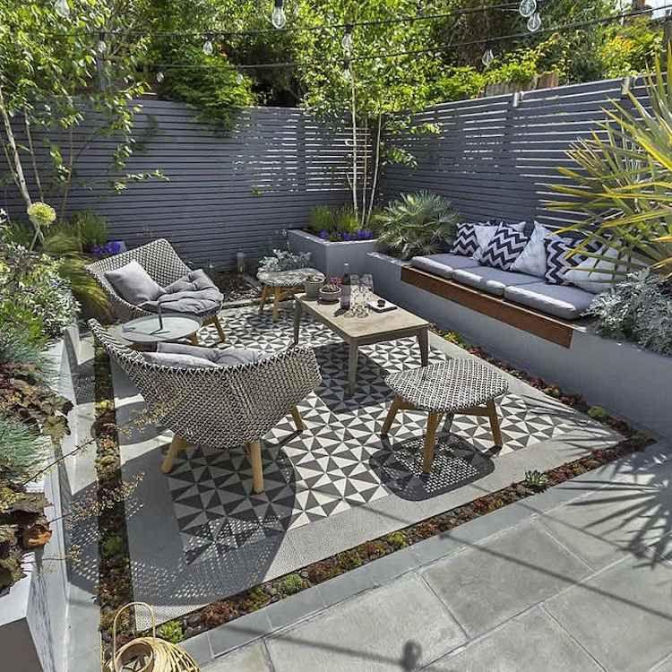 tapis exterieur pour salon de jardin jardin. Black Bedroom Furniture Sets. Home Design Ideas