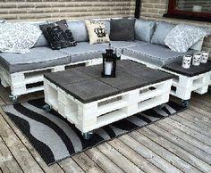 Table basse de salon de jardin en palette