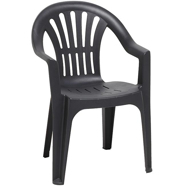 Chaise de salon de jardin en plastique - Mailleraye.fr jardin