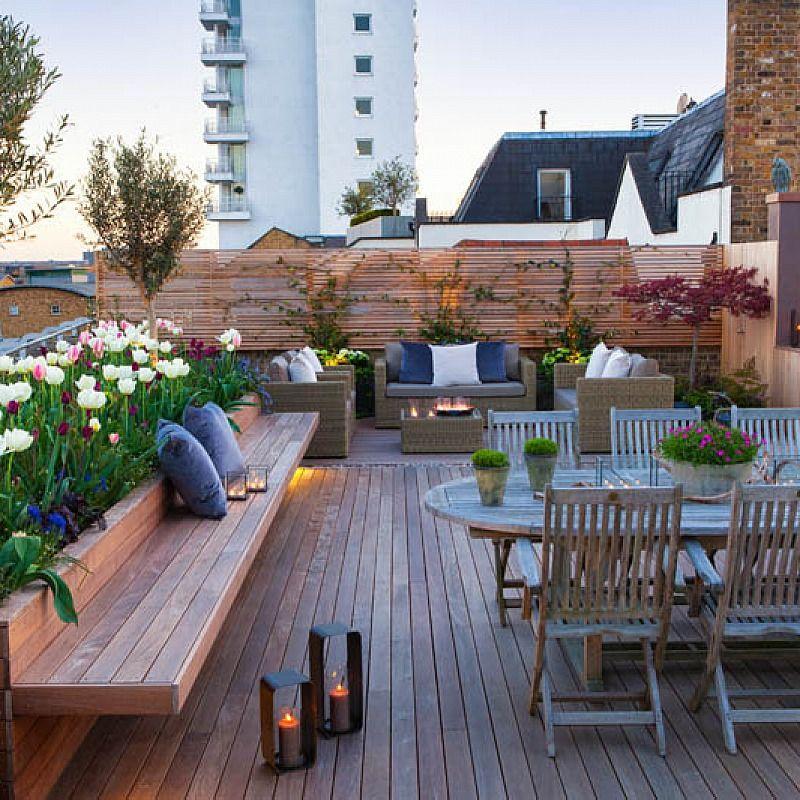 Terrasse aménagée jardin