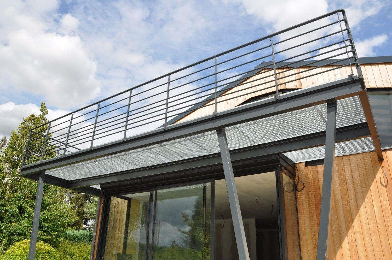 Terrasse en caillebotis acier