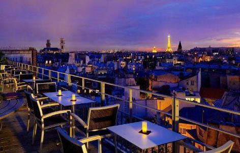 Terrasse hotel saint michel paris