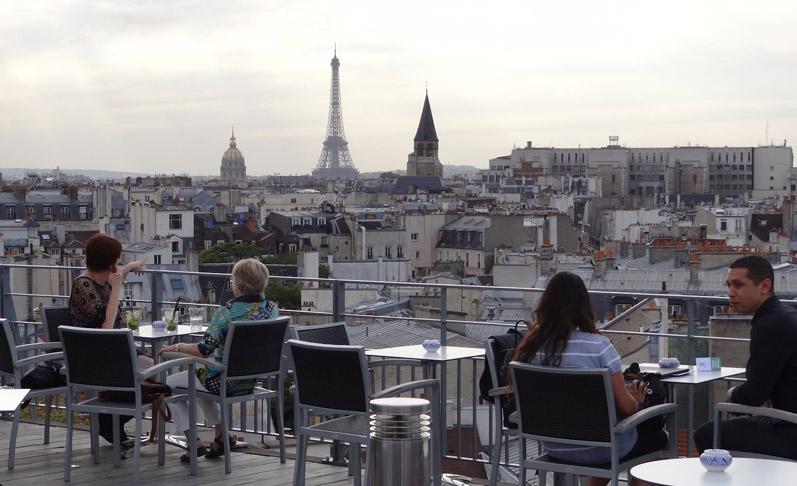 Bar terrasse jeune paris
