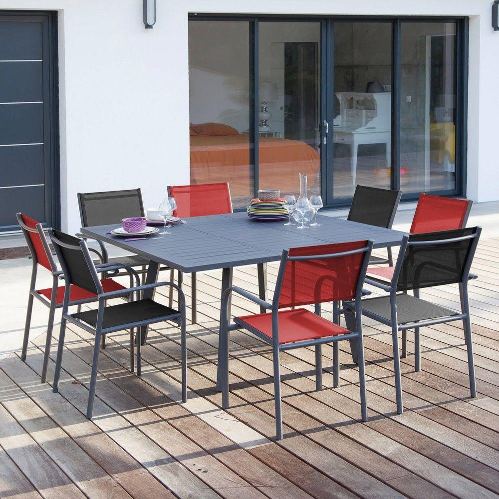Table salon de jardin rouge - Mailleraye.fr jardin