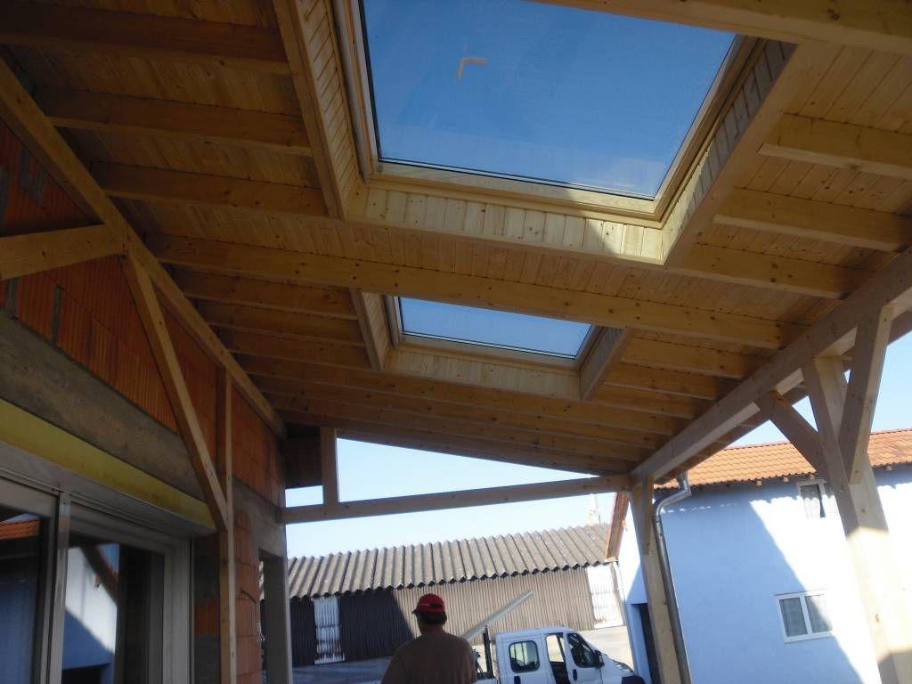 Terrasse couverte avec velux
