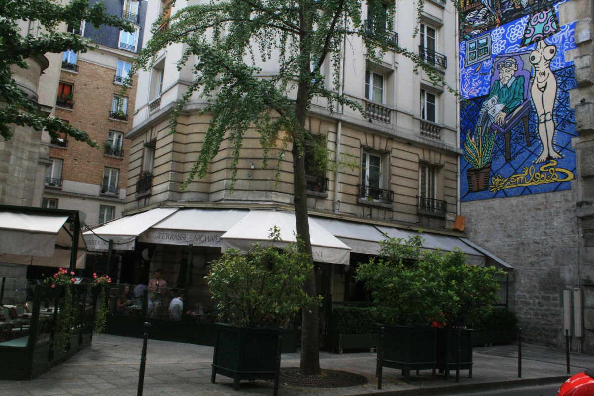 La terrasse des archives paris france
