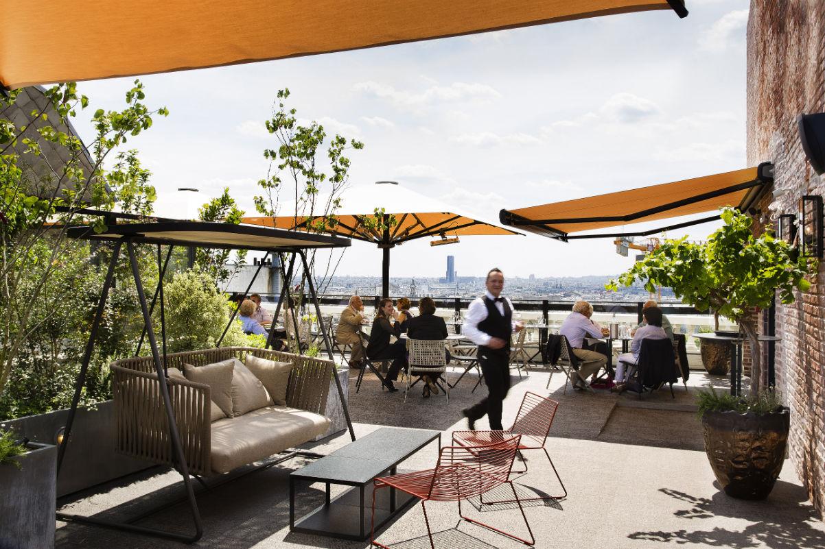 Restaurant terrasse paris vue