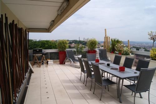 Balcons terrasses parties communes