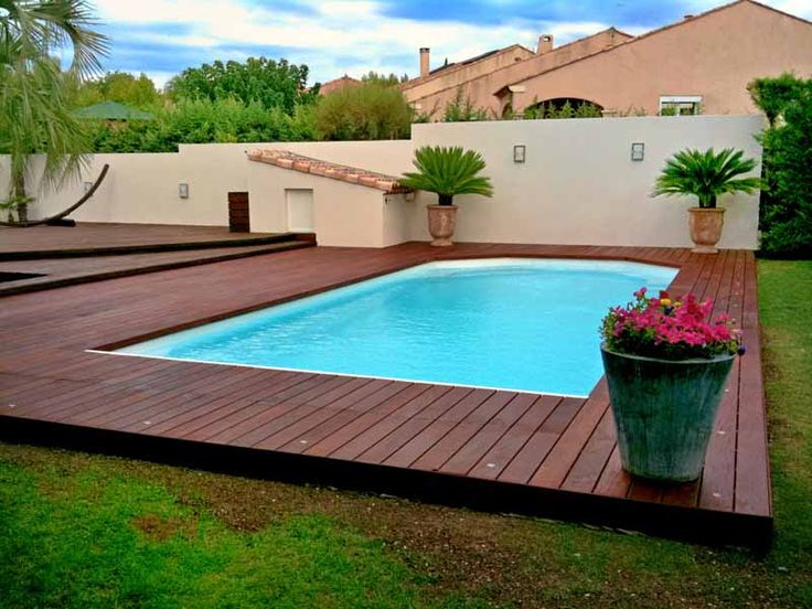 Terrasse bois piscine point p
