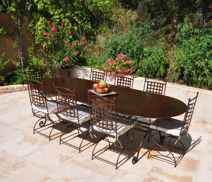 Beautiful Salon De Jardin Metal Rouille Images - House Design ...