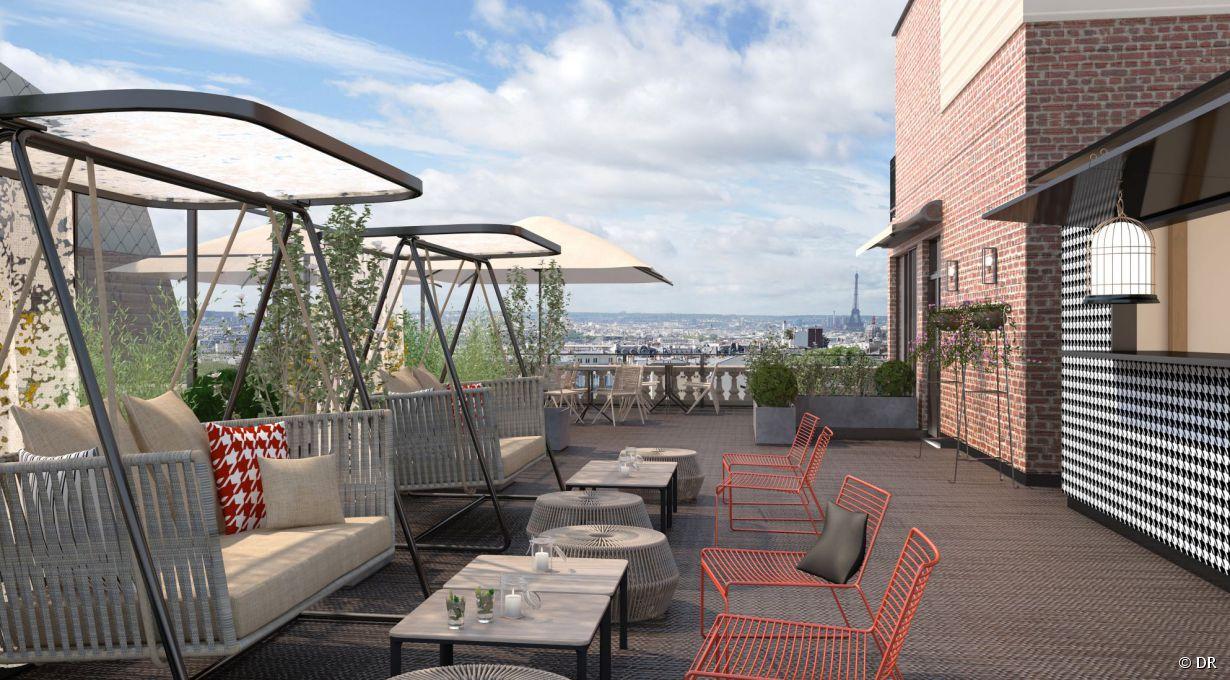 Terrasse hotel montmartre rooftop