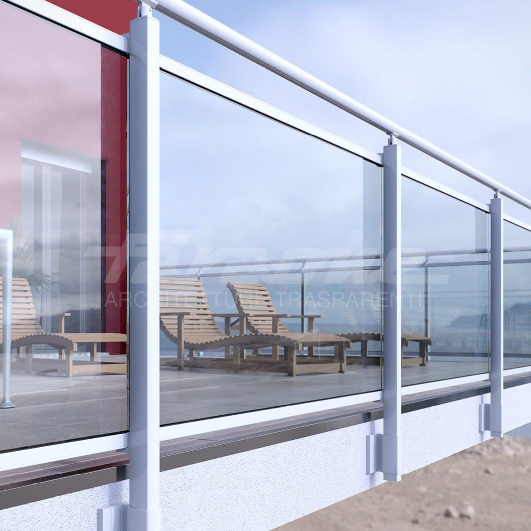 Balcon terrasse en verre