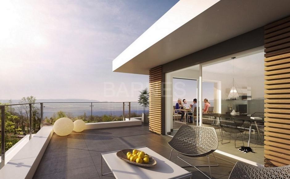 Appartement avec terrasse vue lac leman