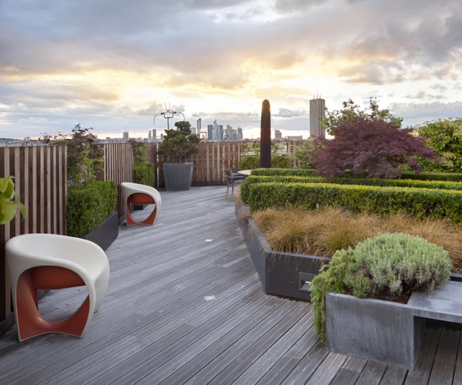Terrasse paris sur les toits