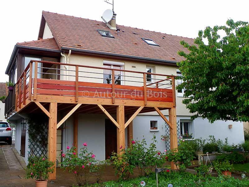 Prix d'une terrasse en bois sur pilotis