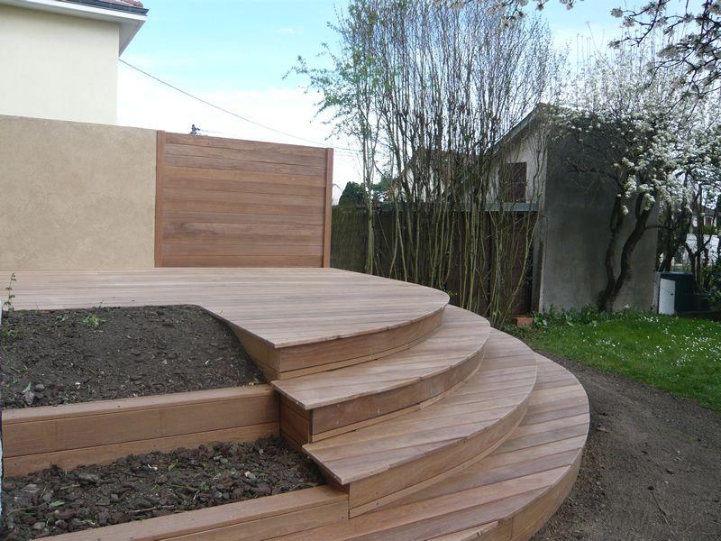 Pose carrelage terrasse arrondie