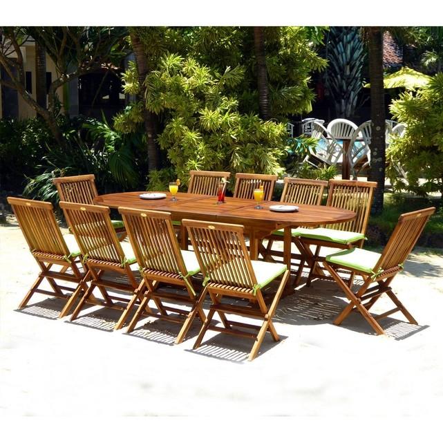 Salon de jardin en teck wood en stock - Mailleraye.fr jardin
