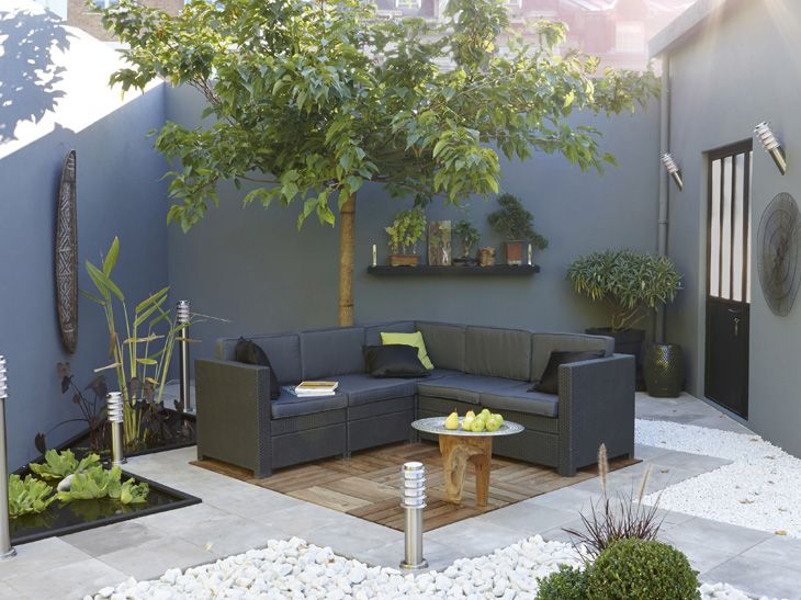 Terrasse aménagée deco