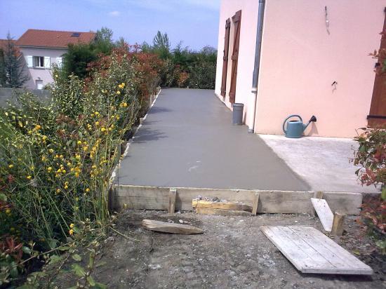 Terrasse beton coffrage