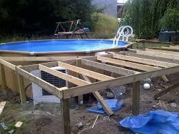 Amenagement terrasse autour piscine hors sol
