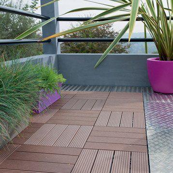 Dalle terrasse composite clipsable