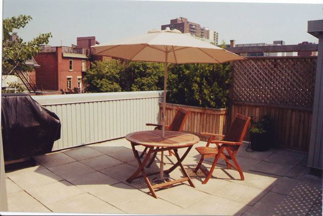 Terrasse appartement montreal