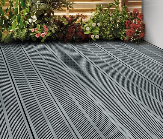 Terrasse bois composite grise