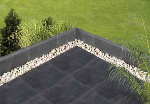 Terrasse carrelage et gravier
