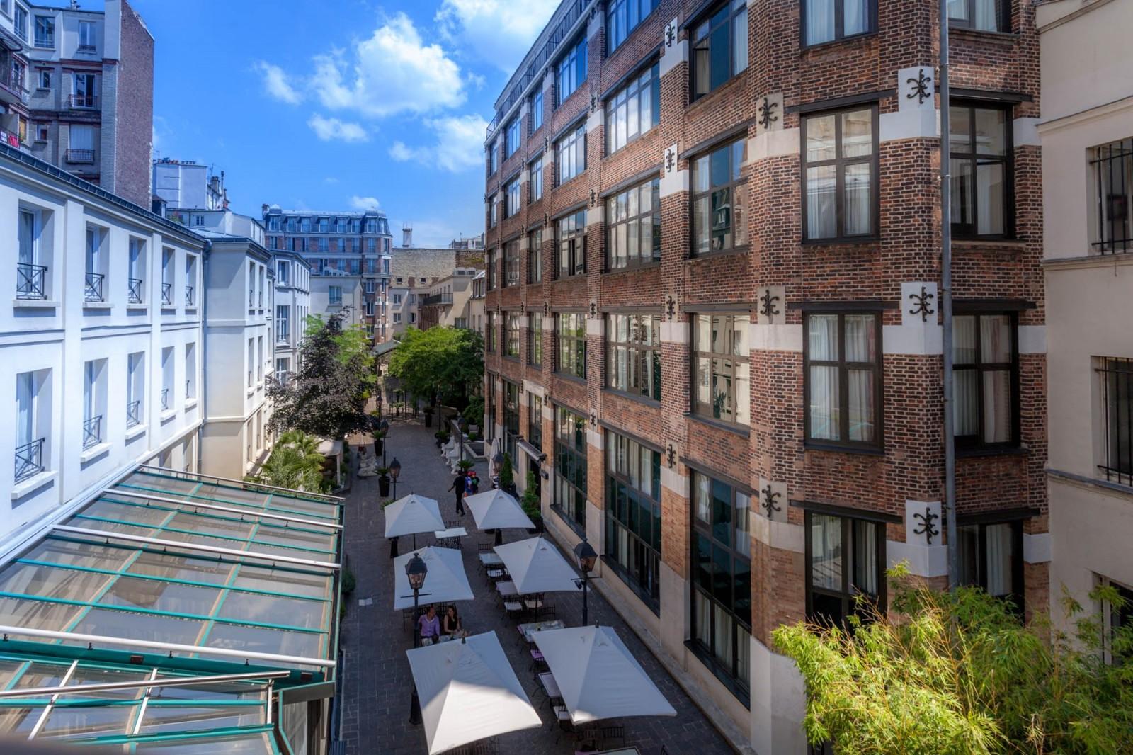 Terrasse hotel jardin du marais