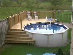Construire une terrasse autour piscine hors sol