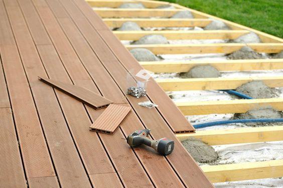 Pose caillebotis terrasse beton