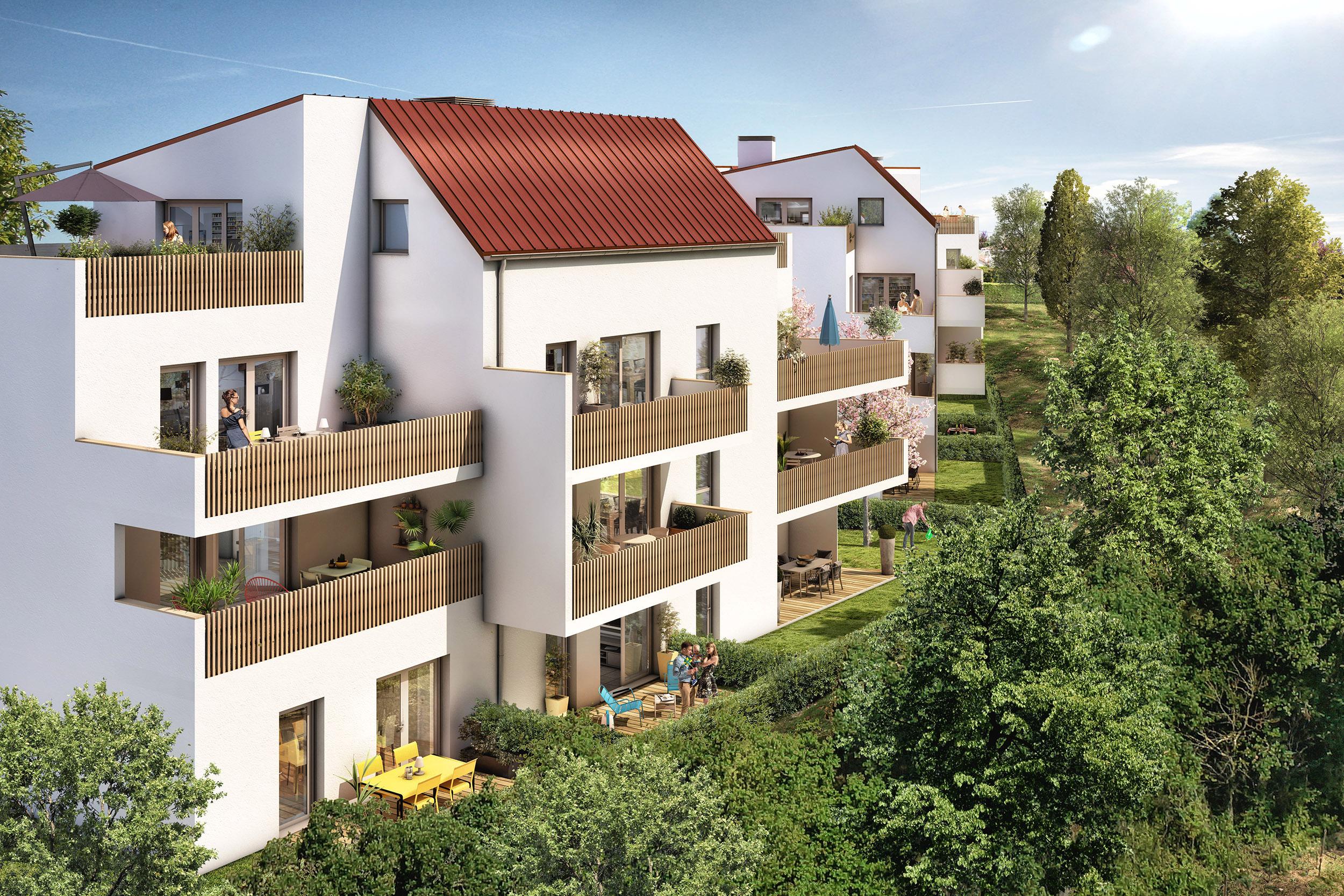 Terrasses et jardins immobilier neuf