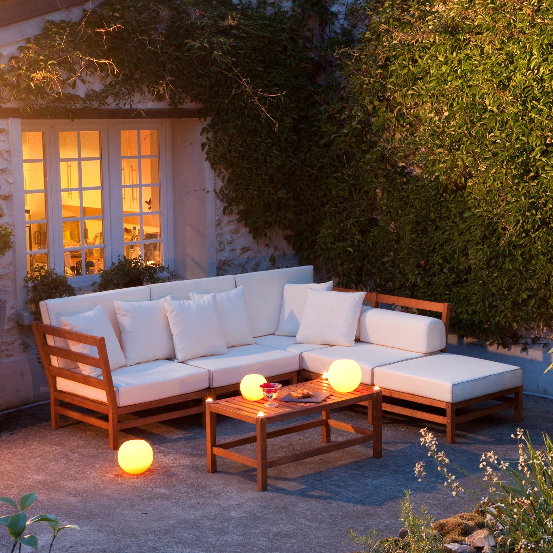 Salon de jardin teck ou eucalyptus - Mailleraye.fr jardin