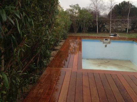 Terrasse bois vernis