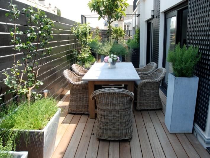Terrasse aménagée en bois - Mailleraye.fr jardin