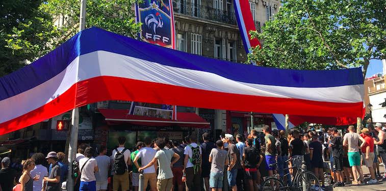 Terrasse paris finale coupe du monde