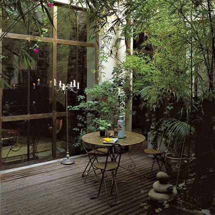 Terrasse aménagée en anglais
