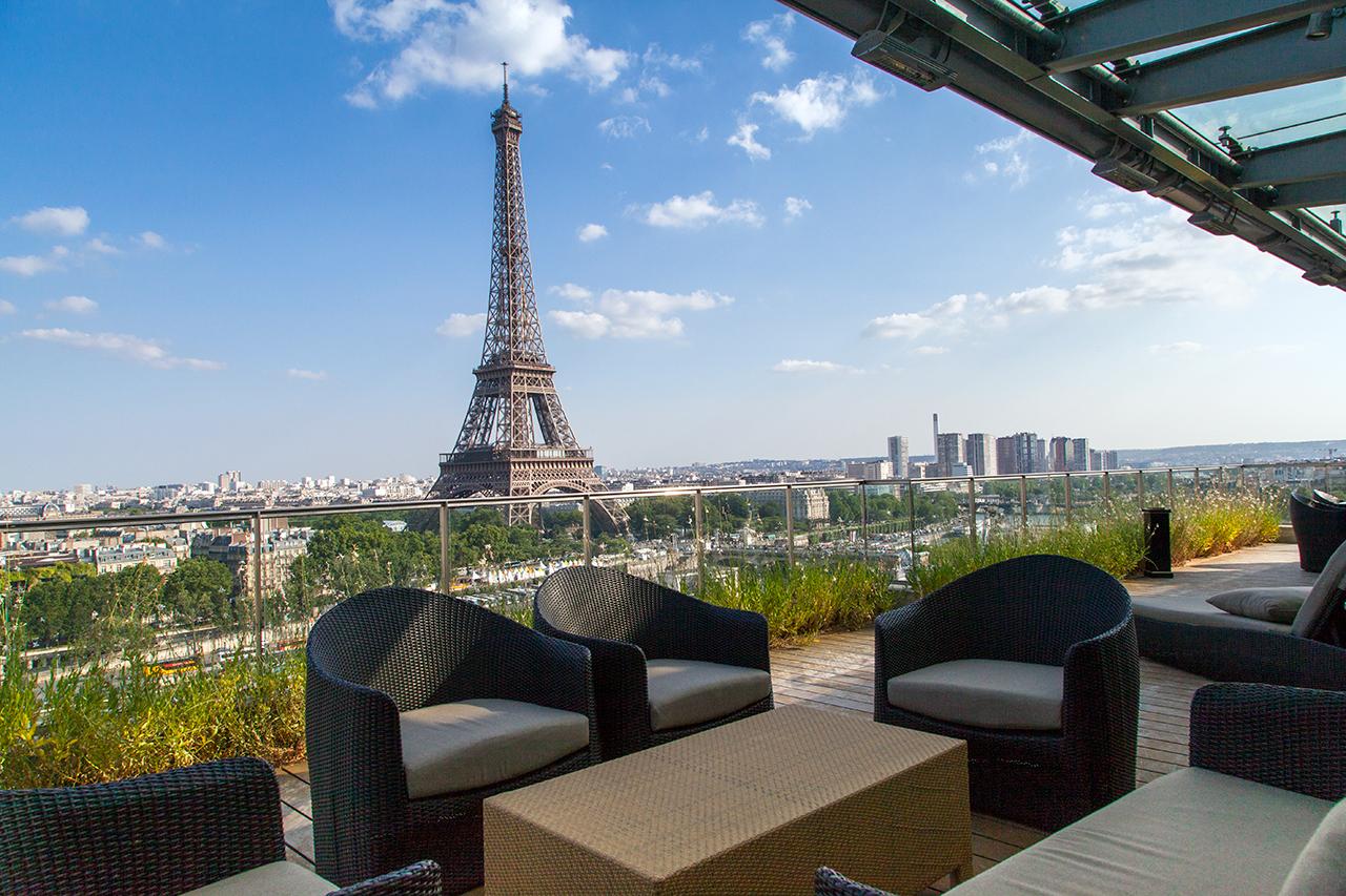 Hotel terrasse tour eiffel