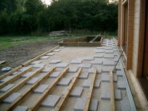 Terrasse bois sur beton
