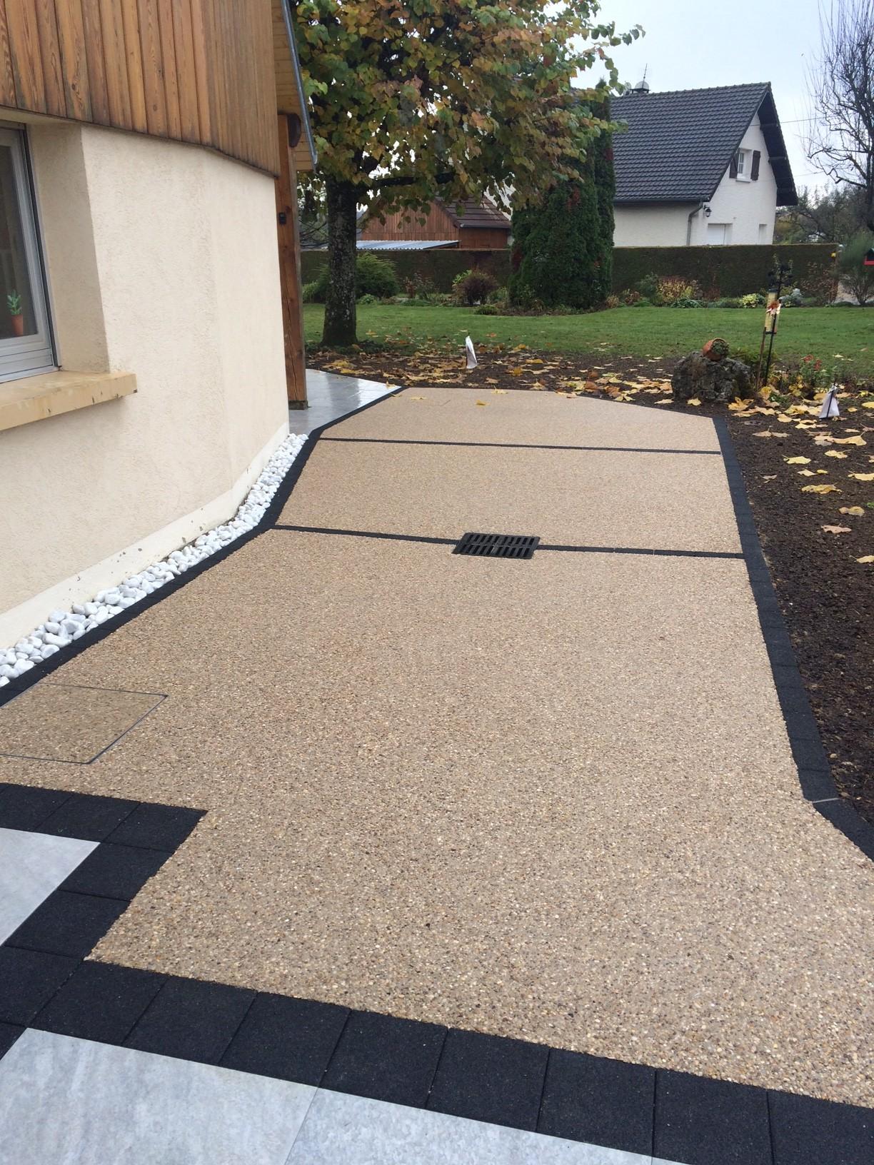 Dalle terrasse beton noir