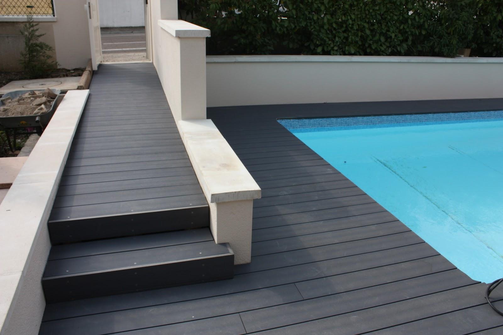 Terrasse composite noir