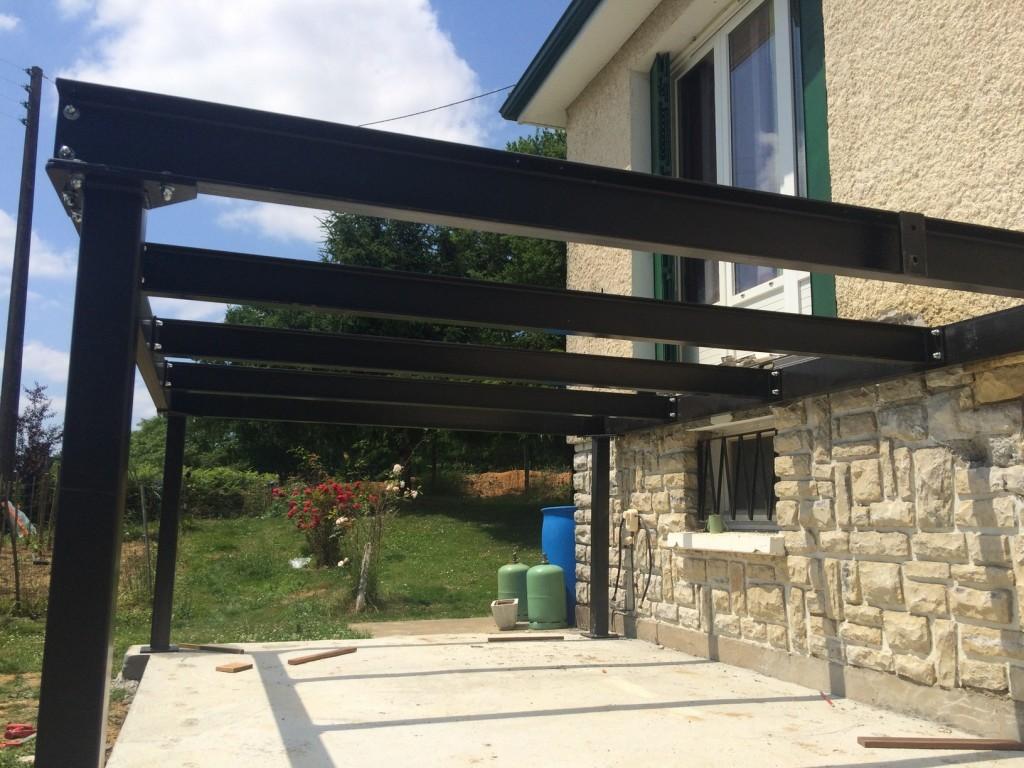 Terrasse couverte métallique