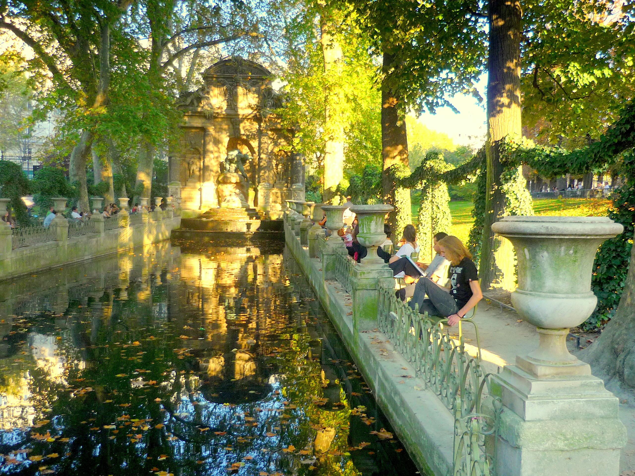 Terrasse jardin du luxembourg