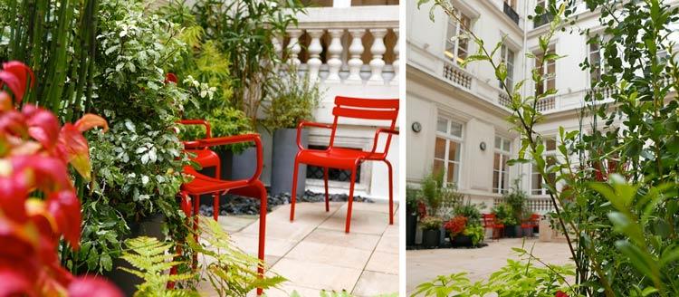 Paris terrasse jardinier